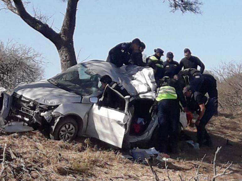Dos menores perdieron la vida en un accidente en la ruta 9