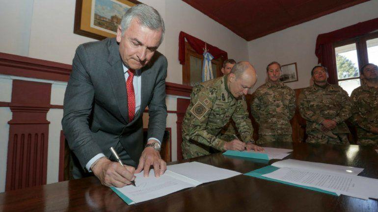 El Ejército cedió 1200 hectáreas en Alto Padilla al Gobierno de la Provincia