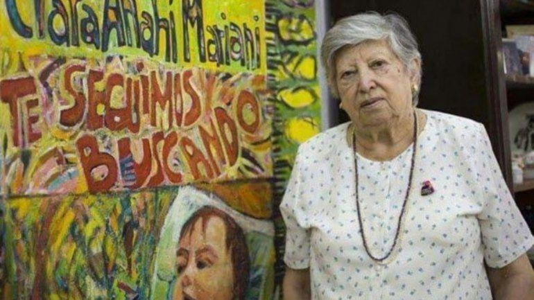 Falleció Chicha Mariani, una de las fundadoras de Abuelas de Plaza de Mayo