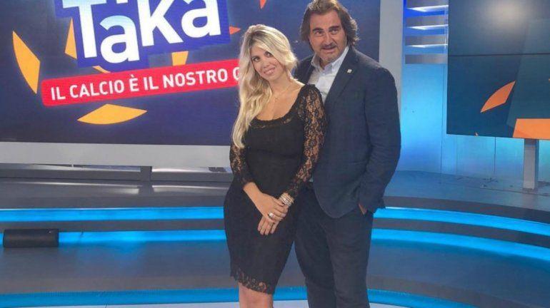 Wanda llega a la TV  italiana con el mate bajo el brazo