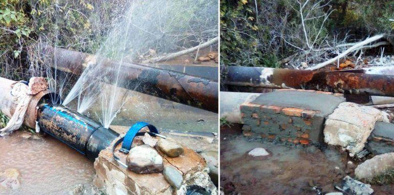 Repararon acueducto que abastece a Libertador General San Martín