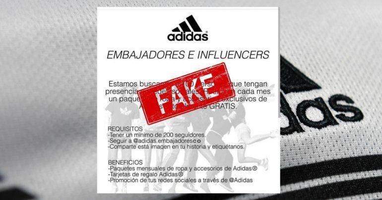 Adidas Embajadores: La nueva estafa que se volvió viral en Instagram