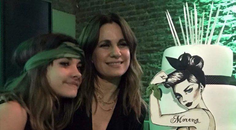 Morena Echarri: festejó sus 15 años apoyando la legalización del aborto