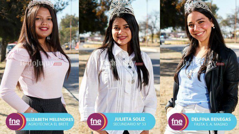 Candidatas a reina por el departamento de Palpalá
