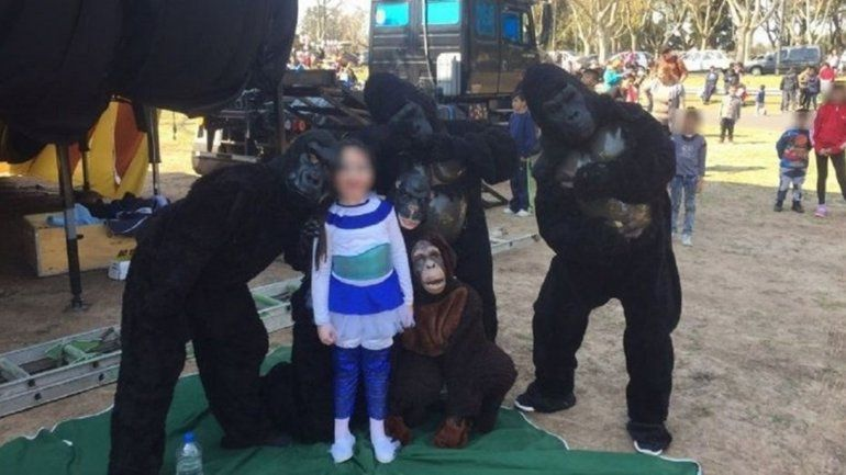 Denunciaron maltrato animal a un circo, pero eran personas disfrazadas