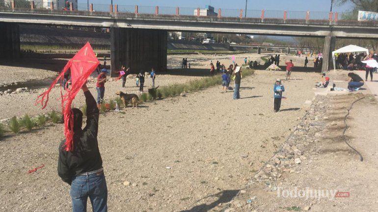 Por primera vez los barriletes coparon el Parque Xibi Xibi