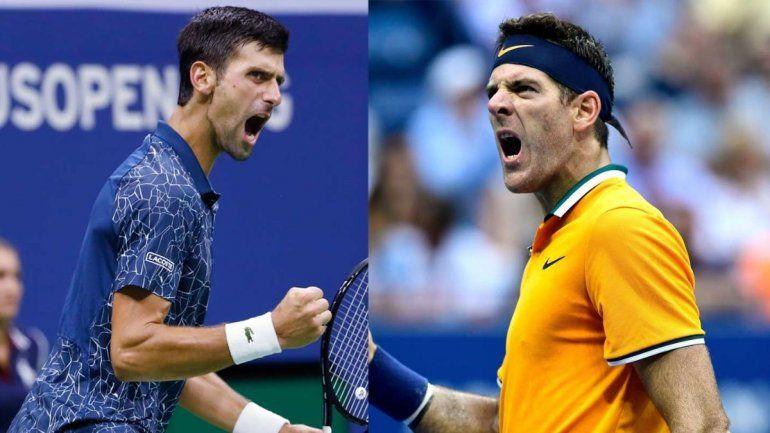 Juan Martín del Potro y Novak Djokovic ya se miden en la final del US Open