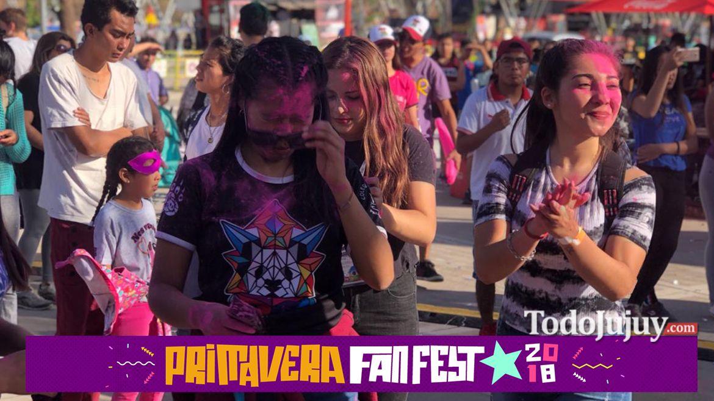 Fiesta de colores en el Primavera Fan Fest 2018