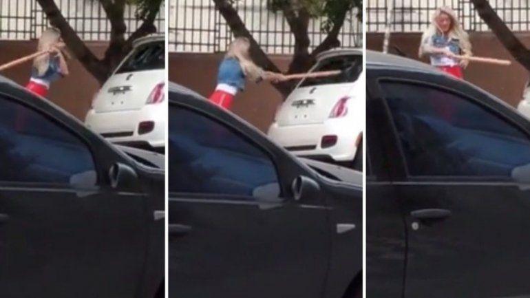 Sol Pérez se hizo cargo de romper un auto a palazos y explicó la razón