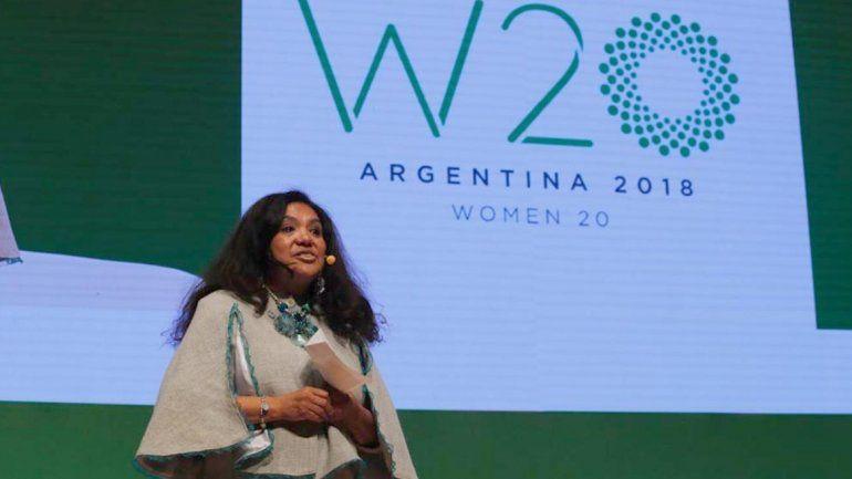 Una jujeña cerró la cumbre del Women20 y habló de las riquezas de los papines andinos de Jujuy
