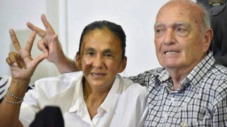 Raúl Noro y Milagro Sala