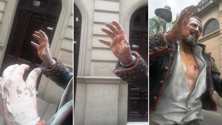 Desde la Biblioteca Popular repudian los daños a la estatua de Lavalle