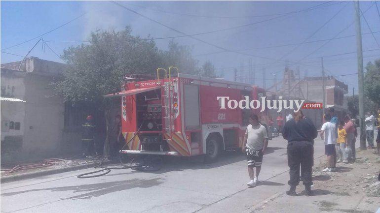 Se incendió una vivienda en Mariano Moreno