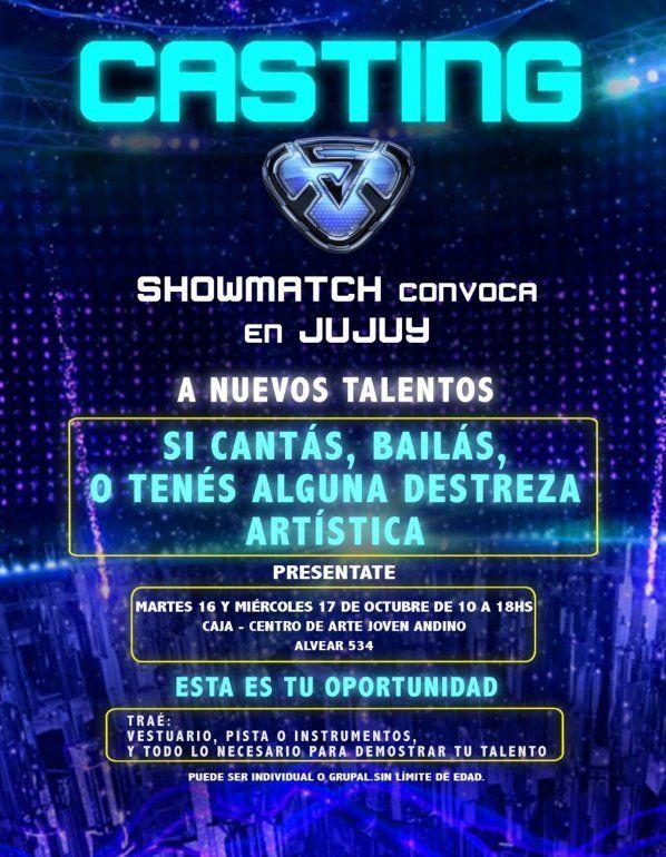 Showmatch hará un casting en Jujuy para buscar nuevos talentos