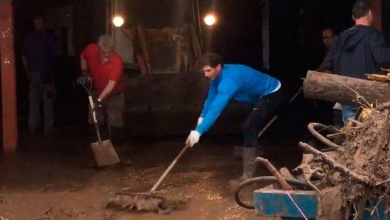 Rafa Nadal, la estrella que salió a ayudar a los inundados de Mallorca