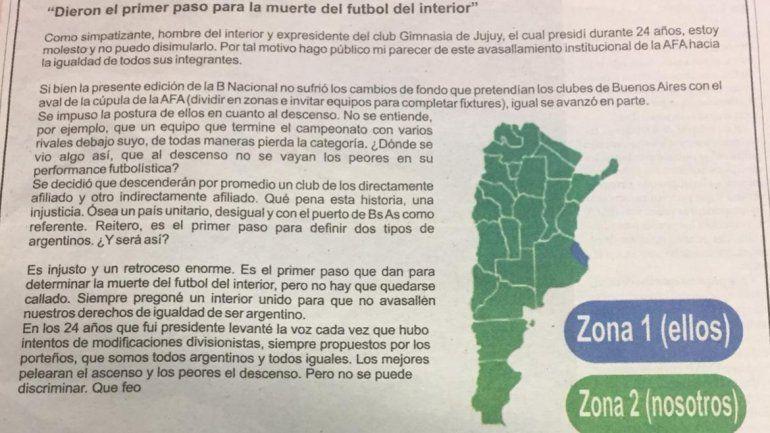 Dieron el primer paso para la muerte del fútbol del interior