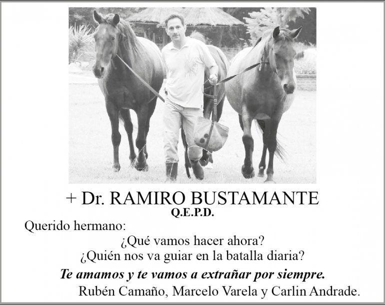 Quien fue Ramiro Bustamante, el médico que falleció en un accidente de tránsito en la madrugada de ayer
