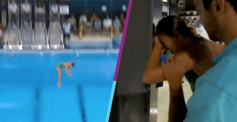 Duro momento en Buenos Aires 2018: clavadista cayó de cara de una plataforma de 10 metros