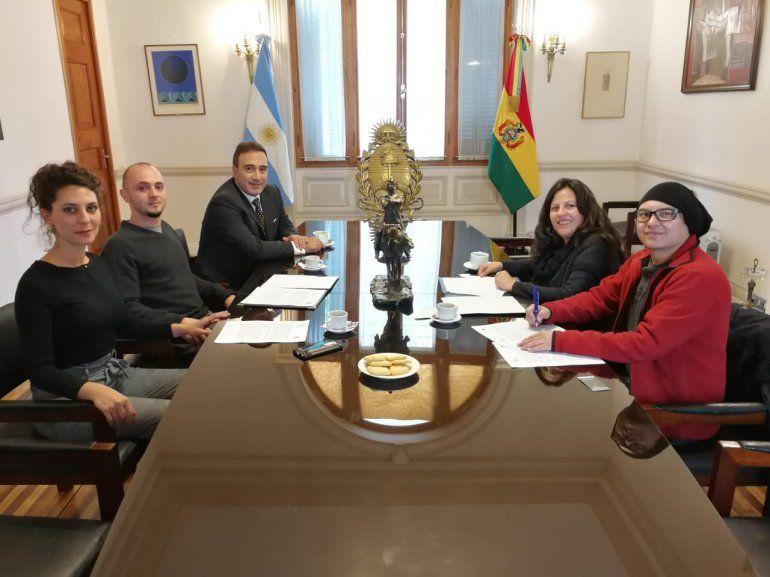 El Ente del Festival de Cine de las Alturas firmó un importante convenio con Bolivia Lab