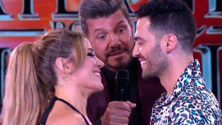 Jimena Barón y su bailarín se dieron un romántico beso en la pista del Bailando