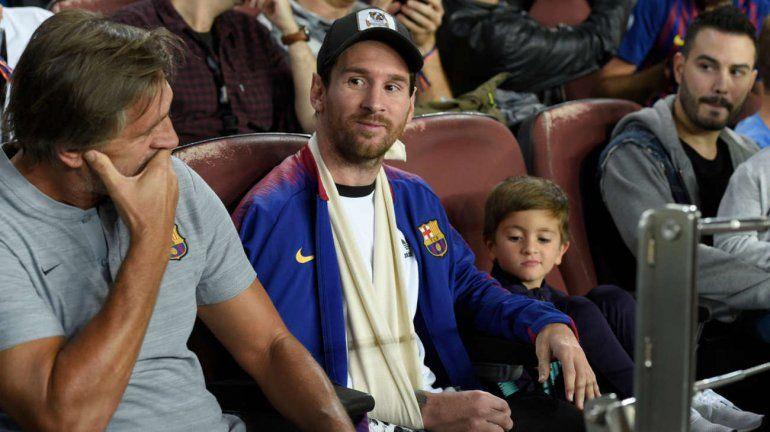 Messi fue a ver Barcelona-Inter con Thiago y mostró cómo es su recuperación