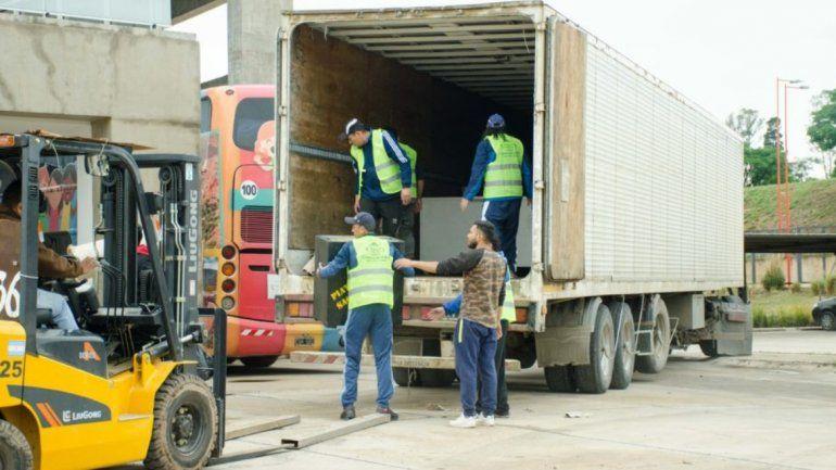 Cooperativas brindan apoyo logístico para el montaje que funcionará en el predio de Infinito por Descubrir