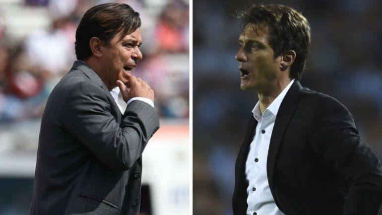 Gallardo y Barros Schellotto fueron suspendidos por la Conmebol y no podrán dirigir en la Copa