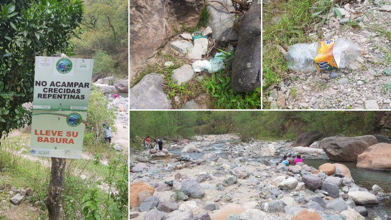 Basura por todos lados y posibles focos infecciosos: el panorama de Yala luego de cada fin de semana