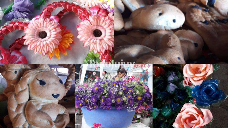 Feria de ofrendas y flores en el marco del Día de los Fieles Difuntos