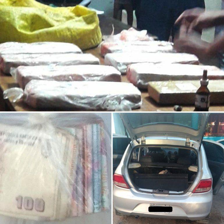 Los detienen con marihuana, le secuestraron el vehículo y dinero en efectivo