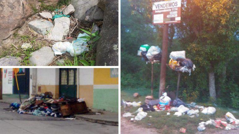 Los jujeños y la mala costumbre de tirar la basura en cualquier lado