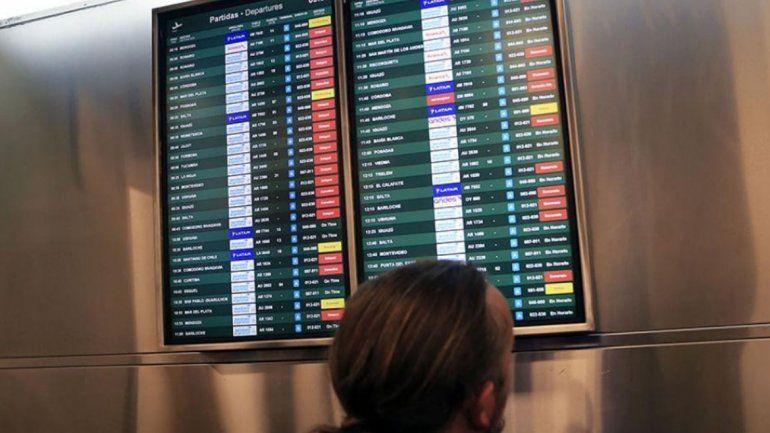 Tras más de 10 horas, los aeronáuticos levantaron el paro que afectó a 30 mil pasajeros