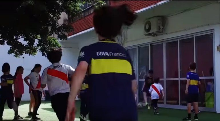 Chicos de cuarto grado hicieron un video fomentando el fair play en el Superclásico