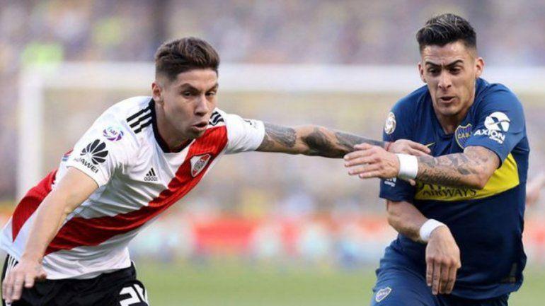 Boca 2-River 2: los finalistas empataron en el partido de ida en la Bombonera