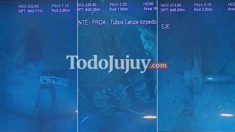 Las primeras imágenes del ARA San Juan en las profundidades del mar
