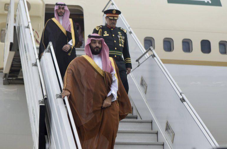G20: el príncipe de Arabia Saudita fue el primer líder en llegar a la Argentina