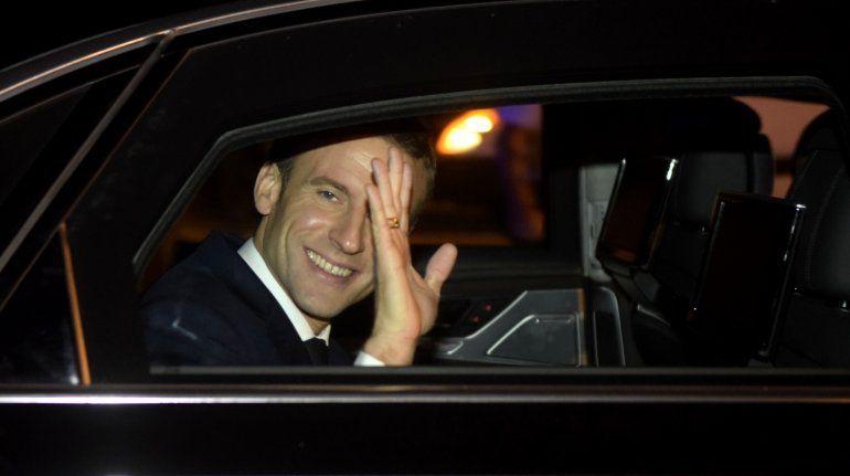 El presidente de Francia Emmanuel Macron ya está en Buenos Aires