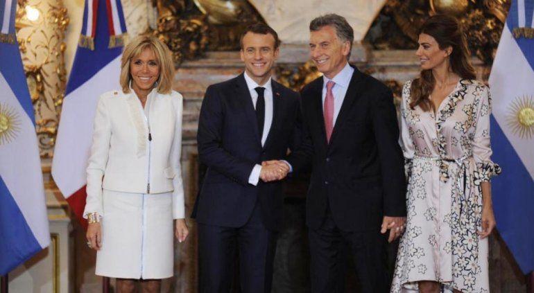 Mauricio Macri se reunió con Emmanuel Macron y brindaron una conferencia de prensa