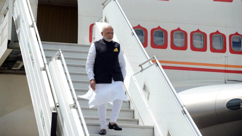 Llegó el primer ministro indio