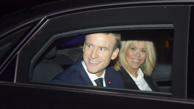El presidente de Francia y su esposa