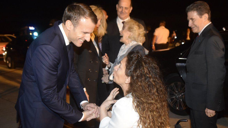 Michetti saluda al presidente de Francia