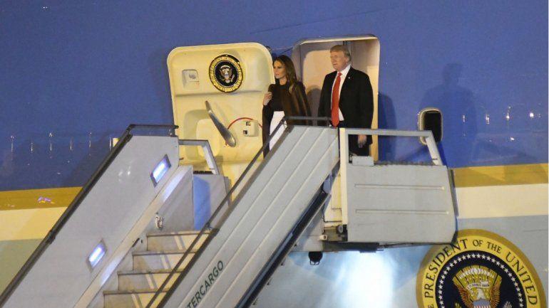 Llegó Donald Trump a la Argentina