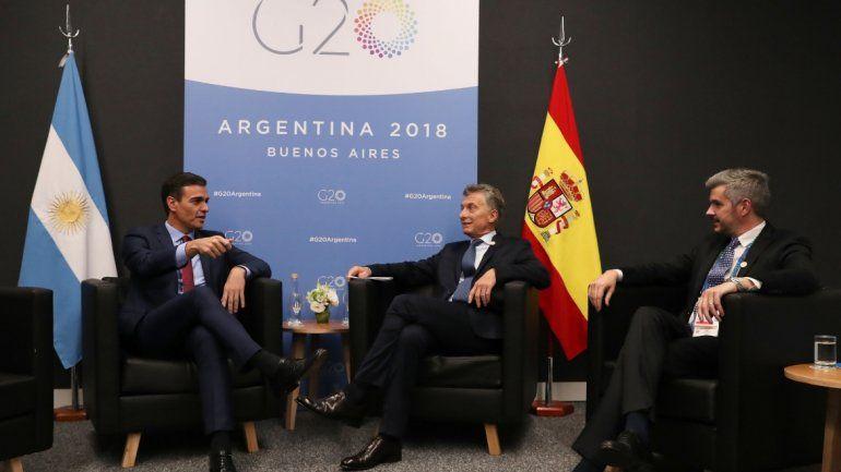 El acuerdo comercial entre la Unión Europea y el Mercosur en la agenda de Macri y Pedro Sánchez