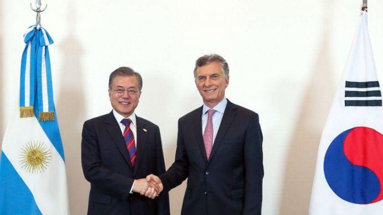 Macri recibió al presidente de Corea en Olivos
