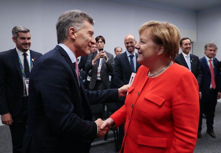 El presidente Macri se reunió con la canciller de Alemania, Angela Merkel