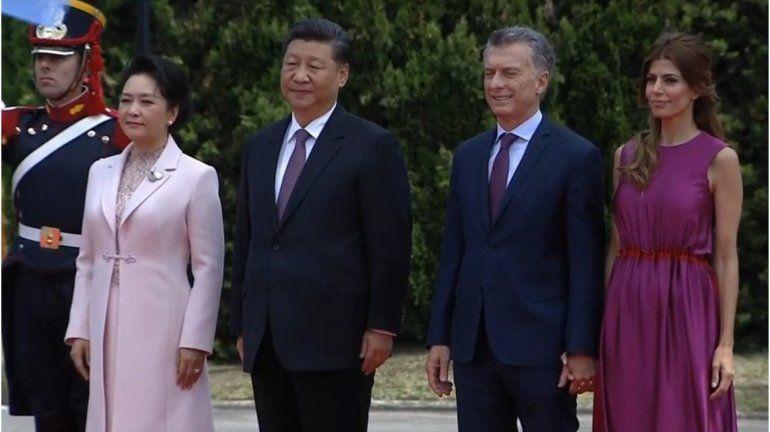 Macri recibió al presidente de China en Olivos