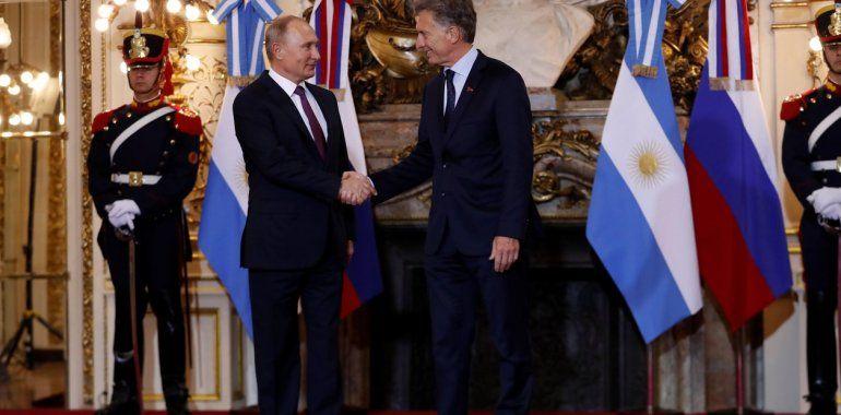 El presidente Macri se reunió con el presidente de Rusia, Vladimir Putin