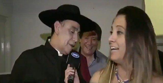 El Chaqueño Palavecino se desubicó con una notera en plena entrevista