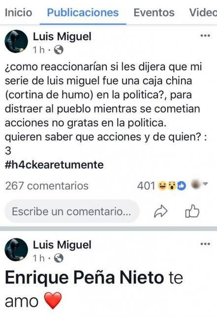 No sé tú, pero a LuisMi lo llegaron de hackear: interceptaron su cuenta de facebook