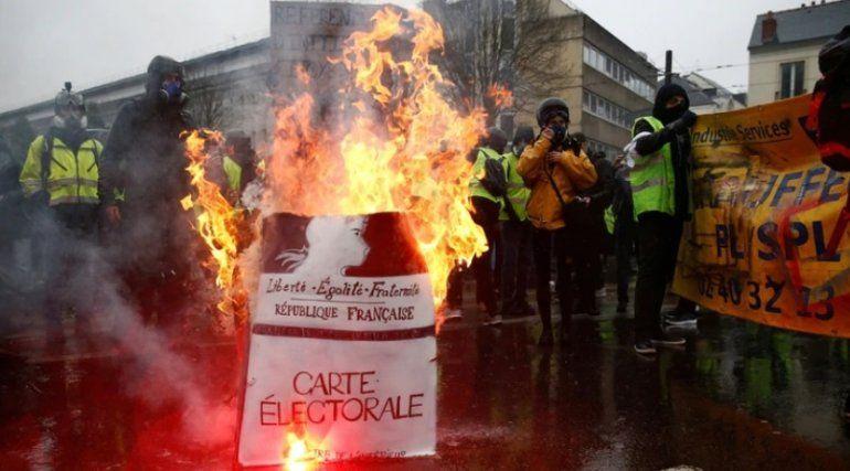 Quinta jornada de protesta de los chalecos amarillos